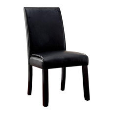 Grandstone I Contemporary Side Chair With Black Finish, Set Of 2