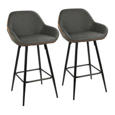 LumiSource Clubhouse Counter Stool Set Of 2