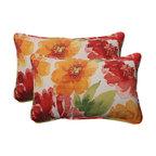 Primro Orange Rectangle Throw Pillow, Set of 2