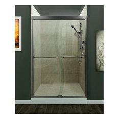 Miseno MSDS4872 Suave Sliding Shower Door, Brushed Nickel