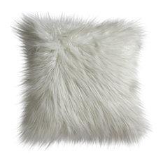 Mongolian Faux Fur Cushion, Cream