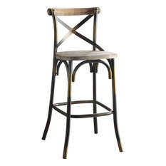 Acme Zaire Bar Chair, Antique Copper