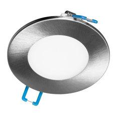 "3"" Round Nickel Flat Panel LED Downlight in 5000K (DLE321205KRDNK)"