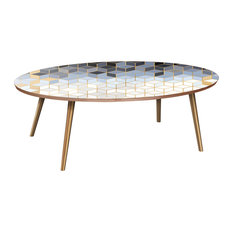 Ondine Flare Coffee Table - Midnight Gold Deco