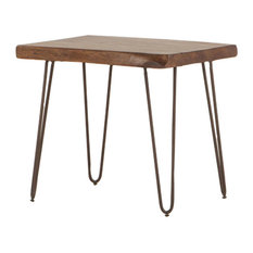 Grandby Acacia Live Edge Side Table Walnut 26-inch