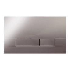 Narrow Dual Flush Toilet Control Plate, Polished Chrome