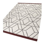 Fall in Love Hexagon 7703-01 Wool White Rectangle Funky Rug 130x190cm