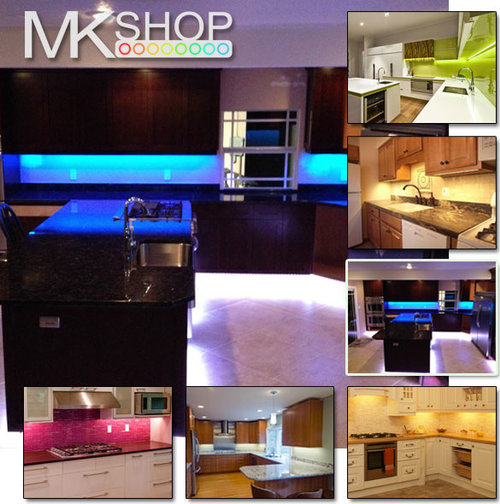 Kitchen Under Cabinet Strip Lighting: UNDER CABINET COUNTER KITCHEN LED STRIP LIGHT KIT COOL