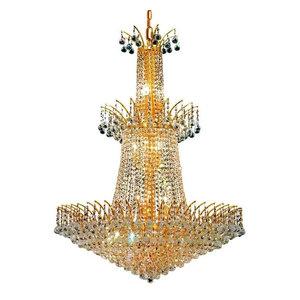Elegant Lighting Victoria 18-Light Crystal Chandelier, Gold, Royal Cut