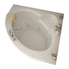 Venzi Esta 60 x 60 Corner Whirlpool Jetted Bathtub By Atlantis
