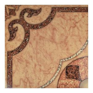 "17.63""x17.63"" Cairo Ceramic Floor and Wall Tiles, Beige, Cream, Set of 10"