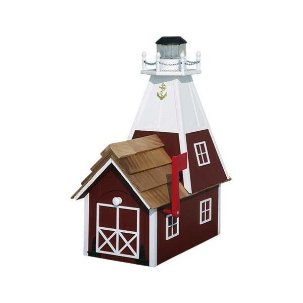 Marion Solar Lighthouse Mailbox