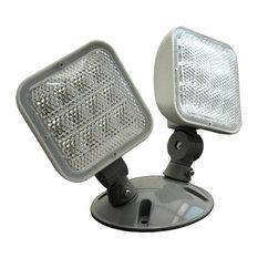 NICOR Wet Location Emergency LED Remote Dual Head Fixture