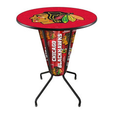 Lighted Carolina Hurricanes Pub Table Red by Holland Bar Stool Company