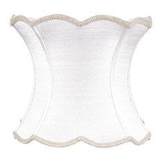 Scalloped Hourglass Shade, White
