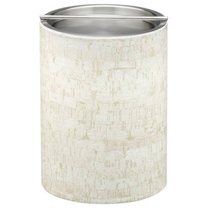 Kraftware Stucco Cork Ice Bucket with Metal Bar Cover, 2 qt.