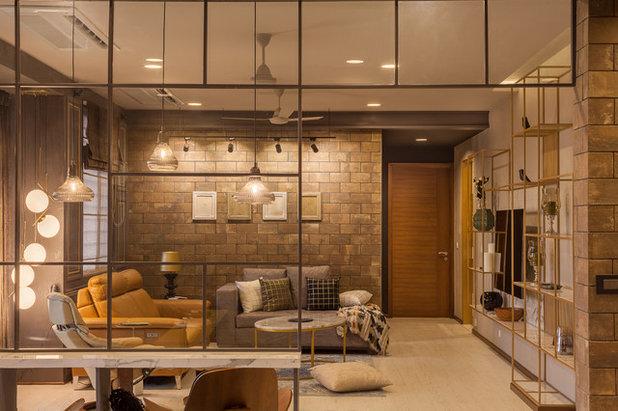 Contemporary Living Room KINI RESIDENCE
