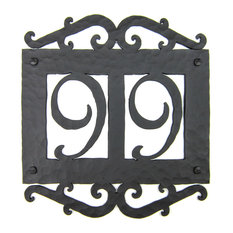 Mediterranean address plaques houzz for Spanish style house numbers