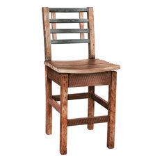Barrel Slat Bar Chair 30-inch