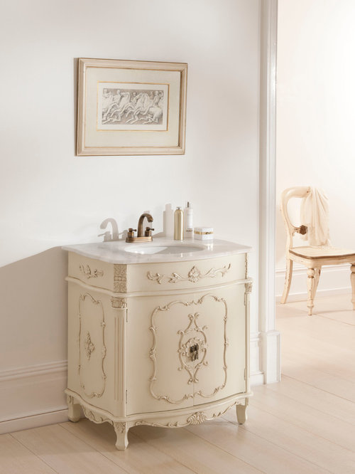 Ivory Antique French Vanity Unit - Bathroom Vanities And Sink Consoles