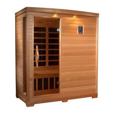 Far-Infrared Carbon Sauna With Chromotherapy, 3-Person