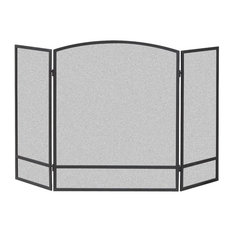 """Panacea Arched Fireplace Screen With Bar, 30""""x48"""""""