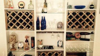 Custom Wine Racks and Glass Holders