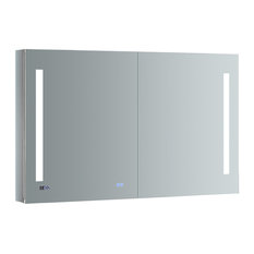 "Tiempo 48""x30"" Bathroom Medicine Cabinet With LED Lighting and Defogger"