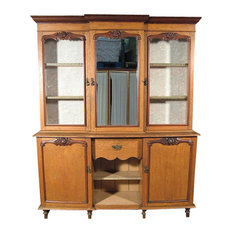 Antiques   Consigned Antique English Oak Mahogany Victorian Welsh Dresser  Hutch W/ Mirror   China