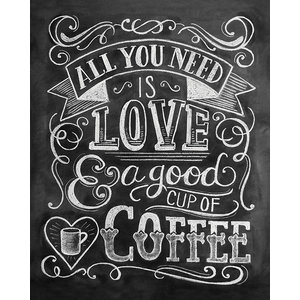 """Coffee"" Printed Canvas by Lily & Val, 50x40 cm"