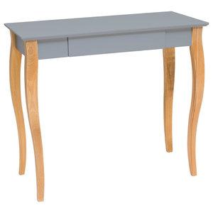 Lilo Medium Scandinavian Desk, Dark Grey