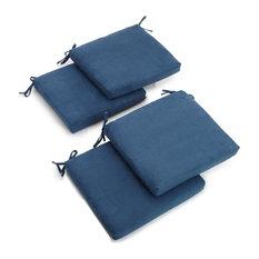 "20""x19"" Polyester Chair Cushion, Set of 4, Indigo"