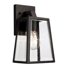 Trans Globe Lighting - Obsidian 1-Light Outdoor Wall Lights, Black - Outdoor Wall Lights and Sconces
