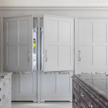 Traditional hand painted framed kitchen