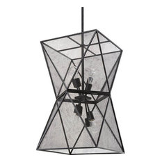 Isosceles Chandelier, Blackened Steel
