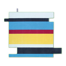 Flying Stripes Area Rug, Multicoloured, 150x150 cm