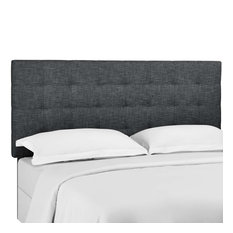 Modway Tufted Full Queen Upholstered Linen Fabric Headboard MOD-5852-GRY