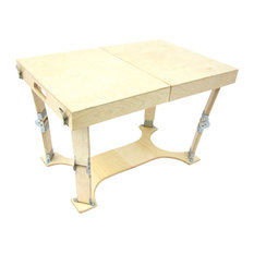 Spiderlegs Hand-Crafted Finish Folding Coffee Table, Natural Birch