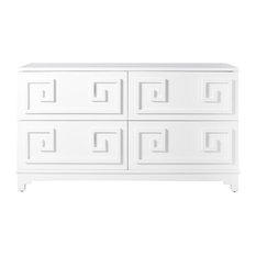 Werstler White Lacquer 4 Drawer Dresser