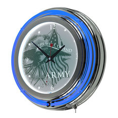 U.S Army This We'll Defend Neon Clock