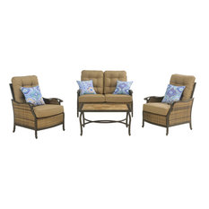 Hanover - Hudson Square 4-Piece Deep-Seating Lounge Set - Outdoor Lounge Sets