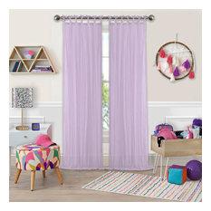 """Greta Sheer Single Window Curtain, Lilac, 50""""x108"""""""