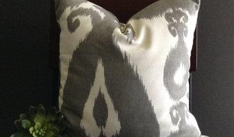 Modern Gray Ikat Pillow Cover