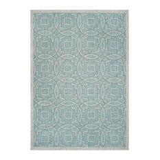 Jade Indoor and Outdoor Rug, Aqua and Grey, 160x231 cm