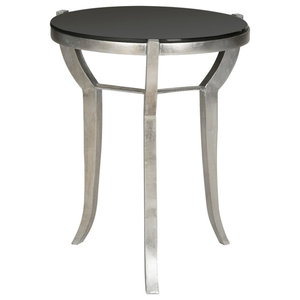 Safavieh Shaw Accent Table, Silver and Black