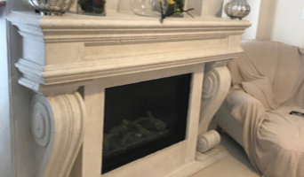 fireplace mantels stone cast