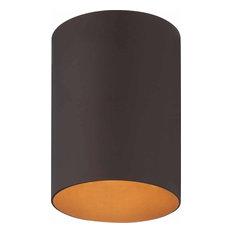 Volume Lighting 1-Light Antique Bronze Outdoor Flush Mount Ceiling Fixture