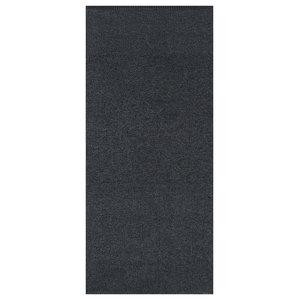 Plain Jacquard Woven Vinyl Floor Cloth, Black, 70x200 cm