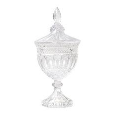 Glass Goblet Vase with Lid