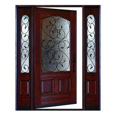 Traditional front doors houzz - Wall in front of main door ...